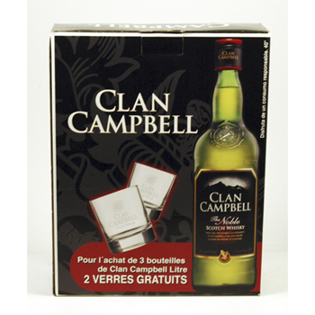 CLAN CAMPBELL PACK 3+2 VASOS 3L.