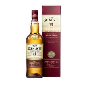 GLENLIVET 15Y FRENCH OAK+EST 0.7L.