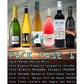 PACK-6 VINOS -  FASE 1 0.75L.