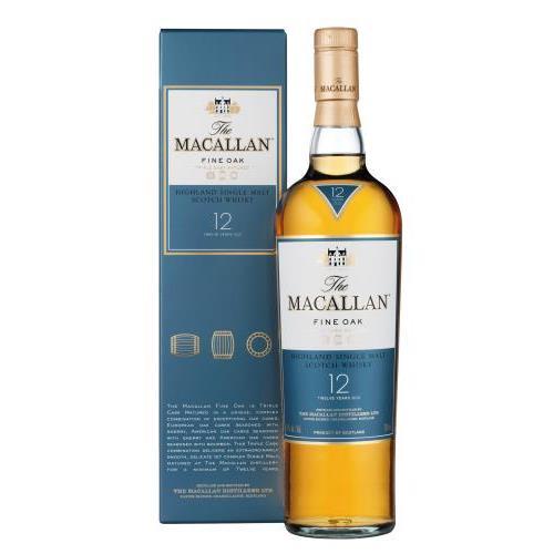 WHISKY MACALLAN FINE OAK 12YO+EST 0.7L.